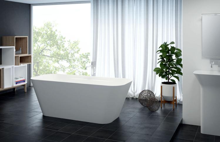 Titan_SQUARE_bathtub_ambient Plane Solo - simetrična kupaonska kada
