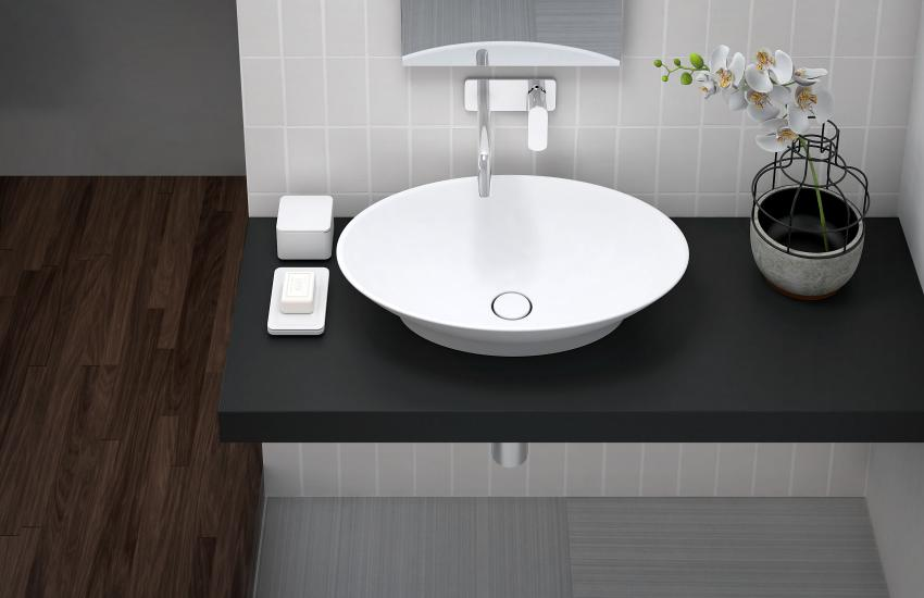 Titan_OVAL_sink_countertop Slope - tuš kada